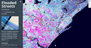 flood map crowdsourcing flood data for chennai points of interest