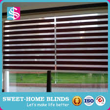 blind and curtain together perforated roller zebra shutter 100