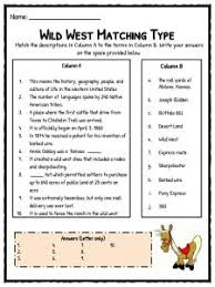 old wild west facts information u0026 worksheets study resources