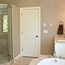 Modern Bathroom Door Decor White Wood Carrara Molded Lynden Door For Modern Bathroom