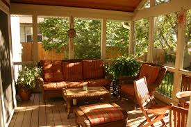 Orange Patio Cushions by Wicker Ottoman Porch Traditional With Covered Porch Enclosed Porch