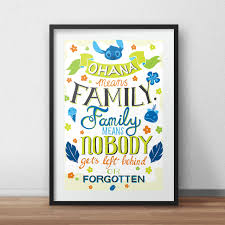 disney quotes love family penelope love prints u2014 ohana means family family means nobody