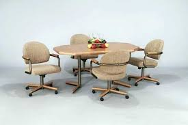 kitchen table and chairs with casters kitchen caster chairs thegoodcheer co