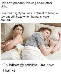 Trap Trap Everywhere Buzz Lightyear Meme Meme Generator - her he s probably thinking about other girls him buzz lightyear