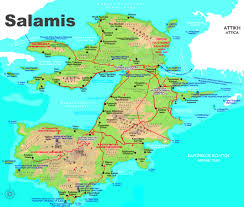 Greece Maps Salamis Maps Greece Maps Of Salamis Island