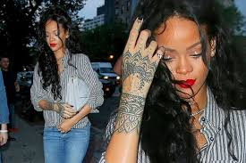 rihanna tattoos hand the best hand 2017