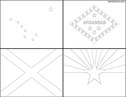 states flags coloring pages coloring pages to download and print