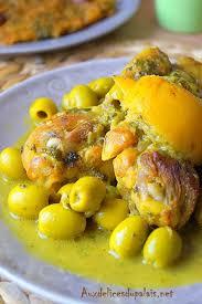 cuisine marocaine poulet aux olives tajine de poulet au citron confit et olives cuisine marocaine
