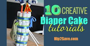 Diaper Cake Bathtub 10 Diaper Cake Tutorials Fun Baby Shower Gift U2013 Hip2save