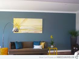 Accent Wall For Living Room by 15 Lovely Living Room Designs With Blue Accents Home Design Lover