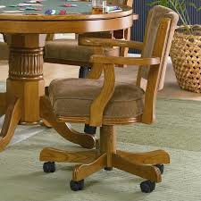 coaster mitchell upholsted arm chair with casters in oak 100952