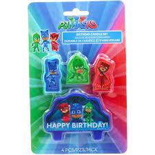 pj masks birthday candle 4 pieces big