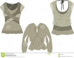 women u0027s fashion tops sketches stock illustration image 9999138