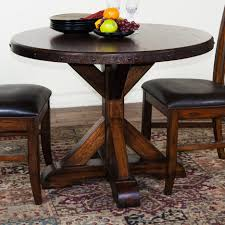 dining tables gray wood pedestal dining table rustic round