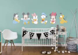 baby mickey and friends wall decal shop fathead for mickey