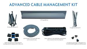 Cable Organizer Desk by Cable Management Kit