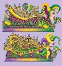 mardi gras deco mesh and 67in mardi gras float props cutouts back drop wall decorations
