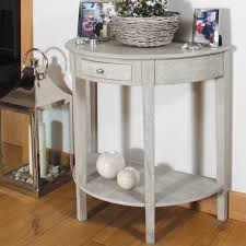 small half moon console table with drawer half console table small half moon table storage wood white nice hi