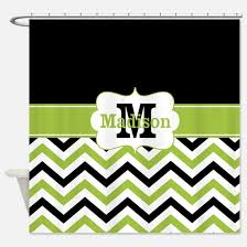 Green Chevron Shower Curtain Green Chevron Shower Curtains Cafepress