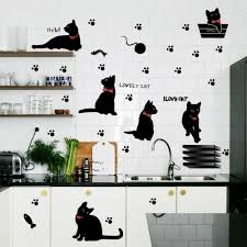 Decoration Cat Wall Decals Home by Home Decor New Pvc Creative Cute Cat Wall Stickers Art Wall Blog