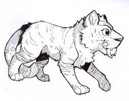 the croods tiger sketch by nell of shadows on deviantart