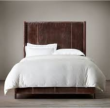 King Bed Leather Headboard by Low High Back Leather Headboard King Bed Double Genuine