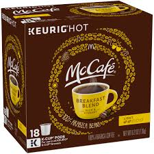 mccafe breakfast blend coffee k cup pods 18 count 6 2 oz 176g
