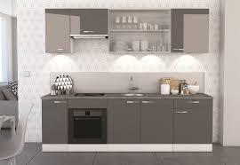 portes cuisine meuble bas de cuisine contemporain 2 portes blanc mat gris