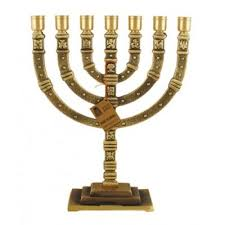 seven branch menorah jerusalem gold colored seven branch menorah messiah of israel store