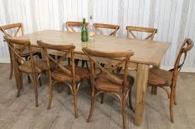 RECLAIMED OAK TABLE SCANDINAVIAN STYLE RUSTIC LARGE OAK DINING TABLE - Rustic oak kitchen table