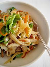 tofu herb u0026 rice noodle salad recipe asian pinterest noodle