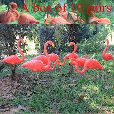 10 pairs plastic flamingo handicraft and jardin lawn wedding