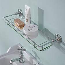 Bathroom Chrome Shelving by Modern Thick Glass Gallery Bathroom Storage Shelf High Quality