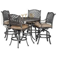 Agio Manhattan by World Source 5 Piece Patio Set Moab Rc Willey Furniture Store