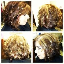 angled bob for curly hair curly angled bob
