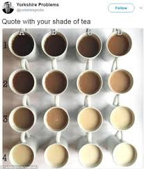 photo guide to every shade of tea goes viral on twitter daily
