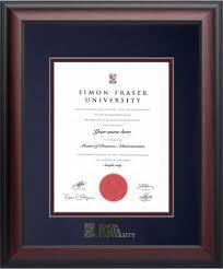 degree frames simon fraser bookstore graduation frames