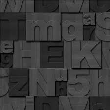 muriva wood letters typography wooden blocks effect wallpaper j43619