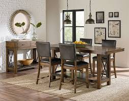 standard furniture dining room counter height trestle table