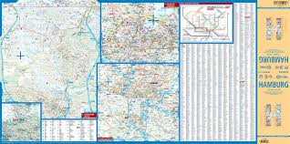 Hamburg Germany Map by Laminated Hamburg Map By Borch English Edition Borch