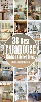 kitchen cabinet colors farmhouse 38 gorgeous farmhouse kitchen cabinet ideas for a perfectly