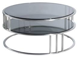 Coffee Table Glass by Contemporary Modern Round Coffee Table With Round Glass Top And