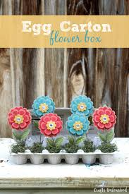 egg carton craft flower box crafts unleashed