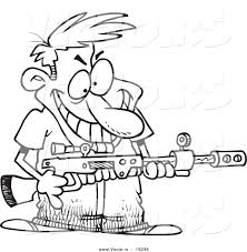 coloring pages of a man and a gun obmaisymta32 u0027s soup
