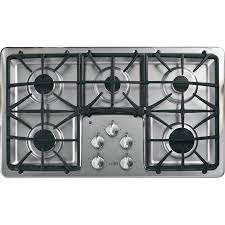 48 Inch Cooktop Gas Shop Ge Profile 5 Burner Gas Cooktop Stainless Steel Common 36