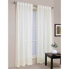 Spotlight Continuous Curtaining Koo Lennox Concealed Tab Top Sheer Curtain White 140 X 221 Cm