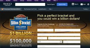 Challenge Yahoo Yahoo Owes Sca Promotions 5 5 Million Billion Dollar Bracket