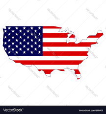 Free United States Map by United States Map And Flag Royalty Free Vector Image