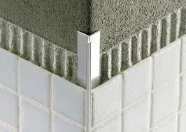 tile outside corners tile edge trim in aluminium concealed outside corner mosaictec