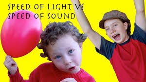 What Travels Faster Light Or Sound The Speed Of Light And Sound Science Fun With Balloons For Kids
